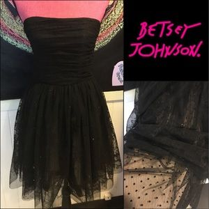 Betsey Johnson party DRESS sz4 👗❤️ prom 🤷🏻‍♀️